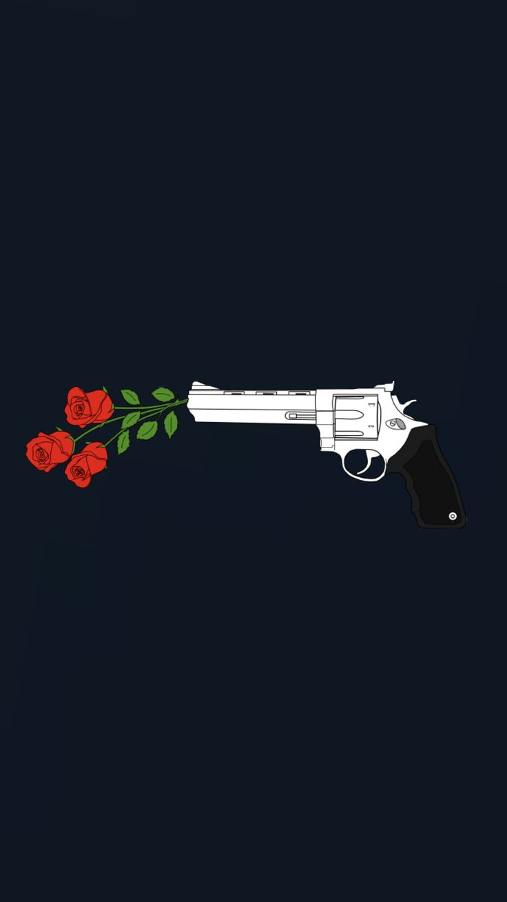 Kill them with roses  / guns and roses wallpaper | made by Laurette | instagram:@laurette_evonen