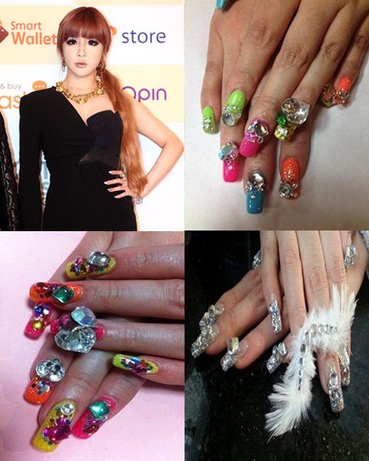 2NE1's Park Bom shows off her fancy nail arts « KoreaDotCom #2ne1
