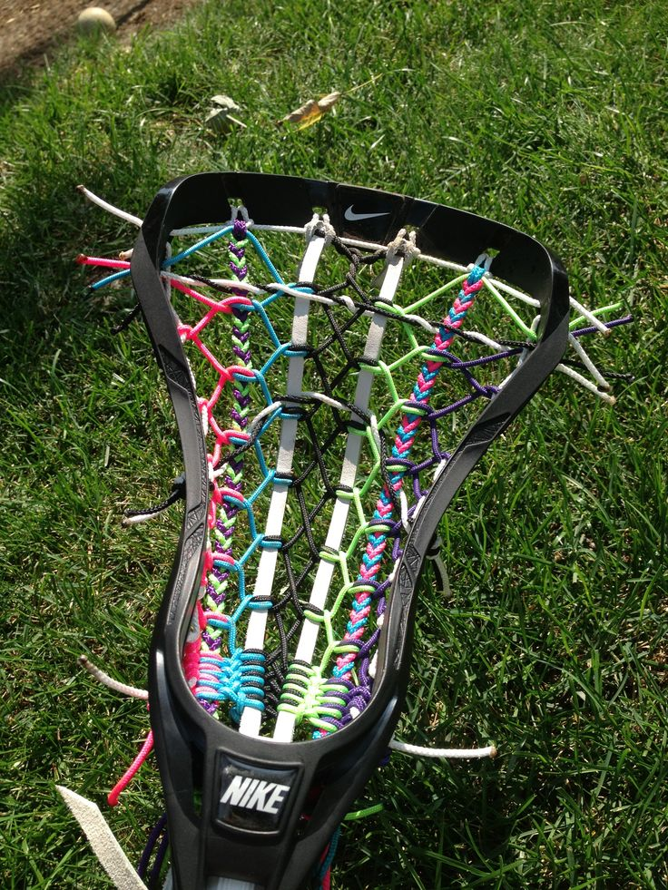 My new lacrosse stick >>> in love with the stringing