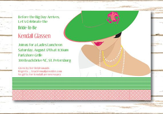 Ladies Luncheon Bridesmaids Luncheon or by HoneyBeesChickaDees, $15.00
