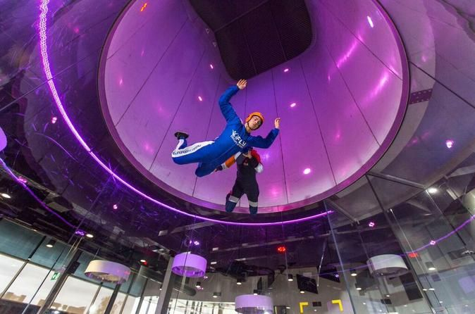 iFly Penrith: Indoor Skydiving Indoor Skydiving is both an exhilarating experience and a highly addictive sport. It is safe for kids, challenging for adults, exciting for teens and realistic for skydivers. Whether you're 3 or 103, indoor skydiving is not just a thrill ride, but is the latest thing in action sports. Indoor skydiving is where you simply lean forward inside a multi-story wind tunnel into a column of air and float effortlessly into flight guided by qualified...