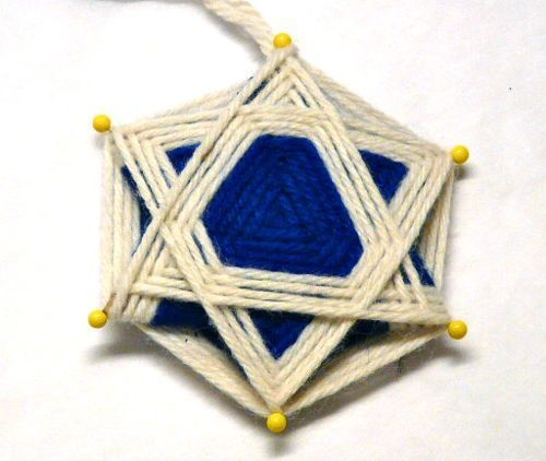 Woven Star of David. Click the link for instructions.