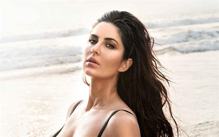 Herunterladen hintergrundbild katrina kaif, 4k, indische schauspielerin, bollywood, mode, model, make-up, brünetten, indischen frauen