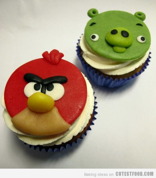 Angry Birds Cuppie Cakes