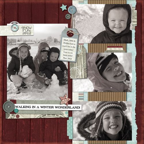 Layout by Jodi Sanford using the Blissful Blizzard digital products by Fancypantsdesigns.com.  These digital products can be found at Jessicasprague.com