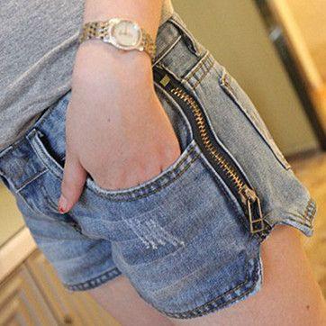 820# cremallera lateral de talle alto maternidad pantalones cortos Denim pantalones ropa para mujeres embarazadas ropa para el embarazo Wear 2014 Summer en Shorts de Bebés en AliExpress.com | Alibaba Group