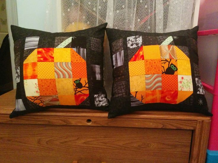 Patchwork Pumpkin Throw Pillows
