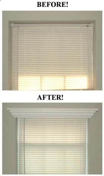 Add crown molding to the tops of windows.