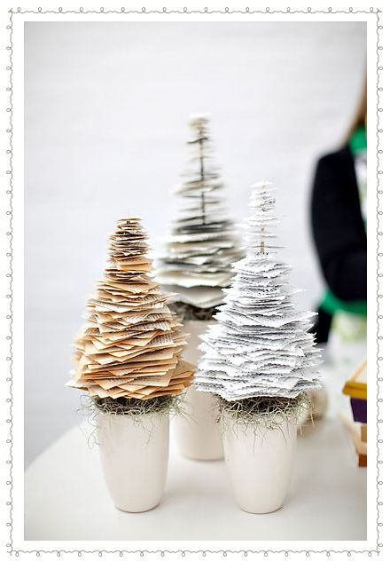 Tree paper decoration. #newspaper #craft #DIY #recycle