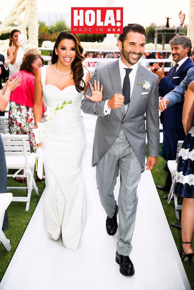 Eva Longoria wedding dress by Victoria Beckham 2016