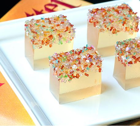 Champagne jello shots with pop rocks for new years eve RECIPE