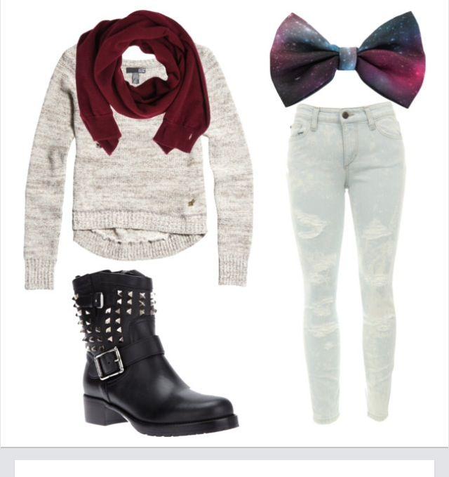 fashion teen juniors cute outfits cute clothes galaxy print hair bow