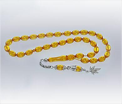 Sarı Ateş-i Kehribar Tesbih                                (Tzbh-007)