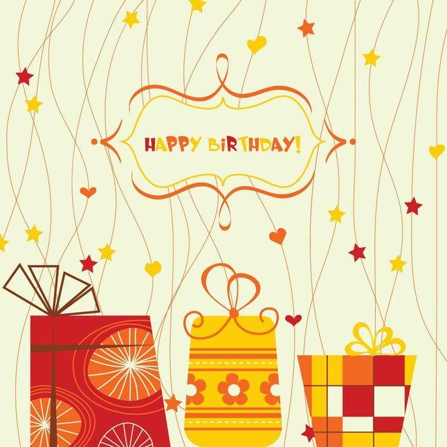 С днем рождения векторная открытка, открытки