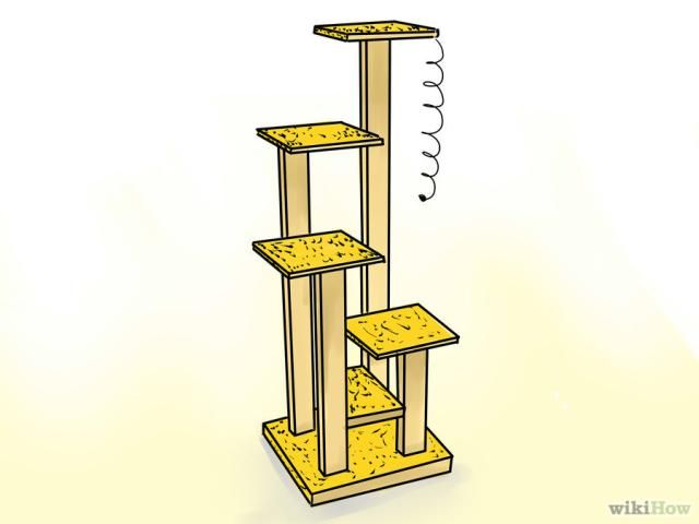 Free DIY Woodworking Plans to Build a Cat Tree: Free Cat Tree Plan at wikiHow
