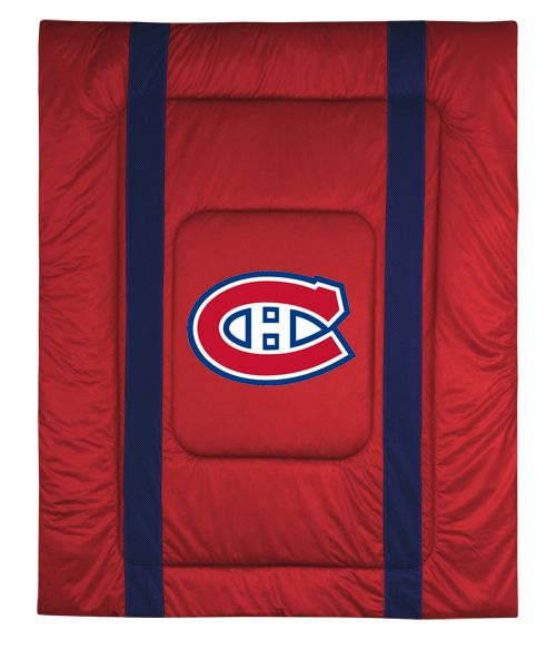 Montreal Canadiens Sidelines Comforter, starting at  $79.95 at MySportsDecor.com. Great for your bedroom, a kid's bedroom, or a dorm room. http://www.mysportsdecor.com/montreal-canadiens-sidelines-comforter.html... #montrealcanadien #montrealcanadienbedding #montrealcanadiencomforter