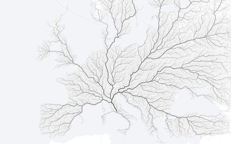 「すべての道はローマに通ず」ということわざが概ね真実であることを示すインフォグラフィックが制作された。