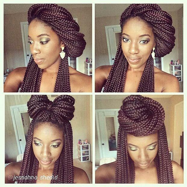 Tremendous 1000 Ideas About Box Braid Styles On Pinterest Box Braids Short Hairstyles For Black Women Fulllsitofus