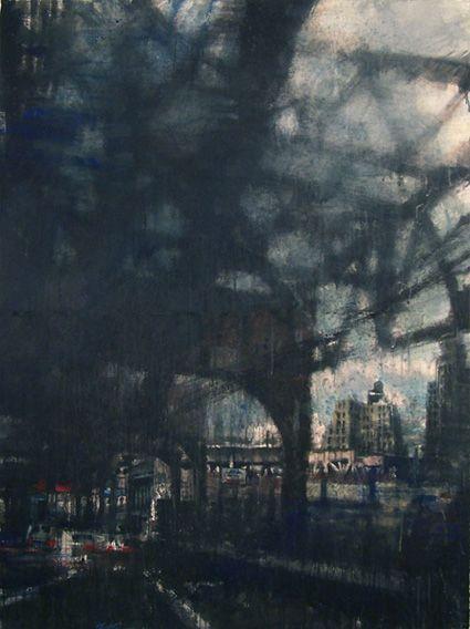 Urban landscape from paintblog.ca/. #urban #art #landscape