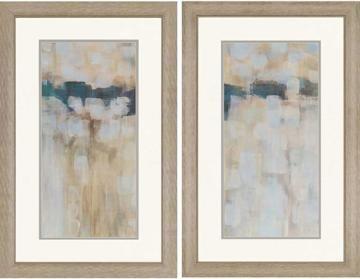 "Carbon Neutral Wall Art - Set of 2 - Abstract Wall Art - Framed Art - Framed Art Prints | HomeDecorators.com--$233 for BOTH! 38""H x 24"" W"