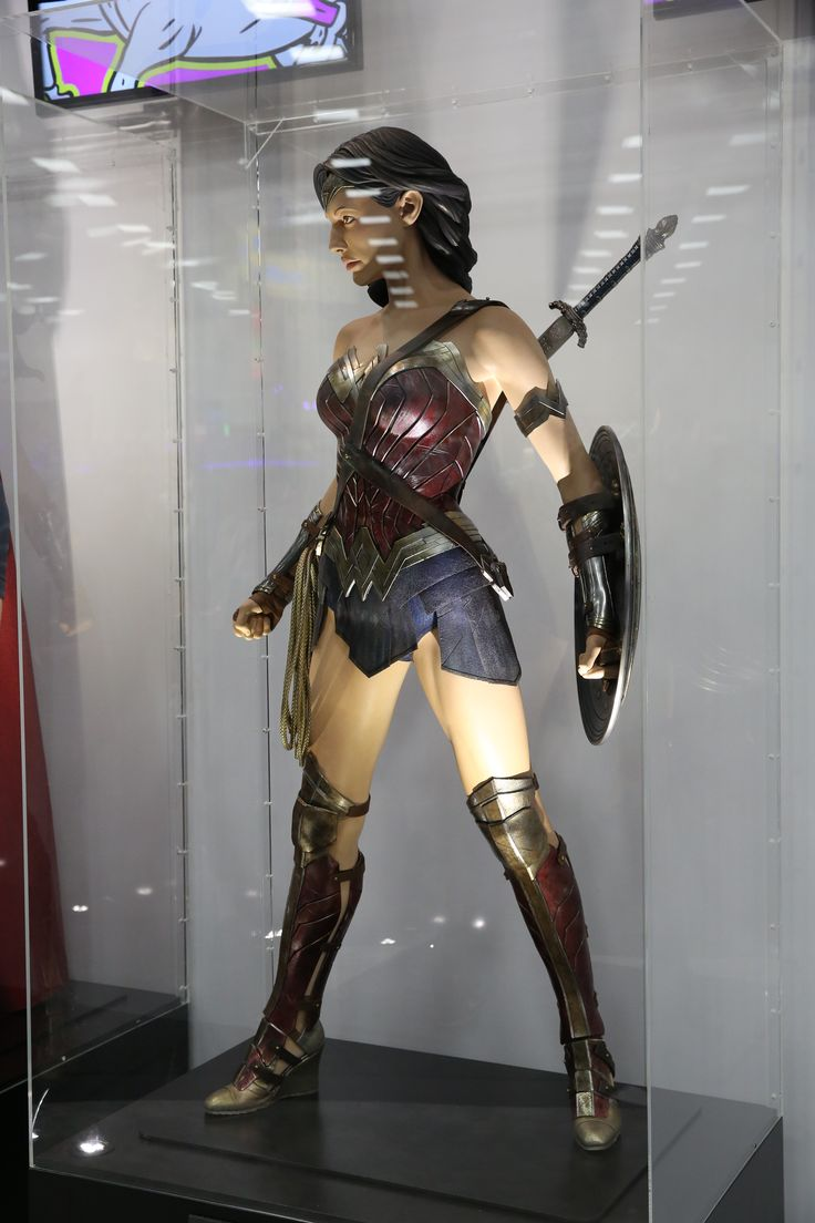 Wonder Woman mannequin in the Warner Bros. booth at Comic-Con 2015. #WBSDCC (©2015 WBEI. All rights reserved.)
