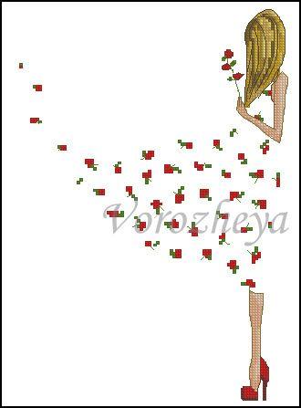 Gallery.ru / Платье из роз (макси) - Сказочные персонажи и обычные - Vorozheya