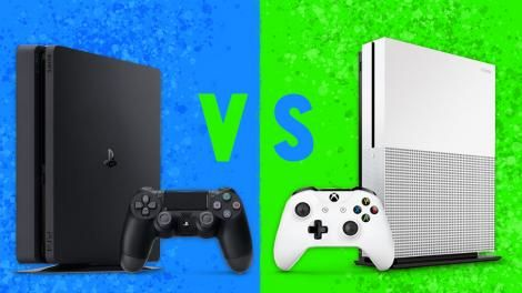 Versus: Xbox One S vs PS4 Slim: Price 4K performance comparison   Xbox One S vs PS4  Deciding between a PS4 and a standard Xbox One wasn't easy. They both had a library of awesome exclusives both played Blu-rays both had access to Twitch Netflix Amazon Instant and HBO and both had equally great online services  I hate to say it but they were nearly identical systems.  Sure you could argue that services like PlayStation Now and PlayStation Vue on PS4 and Windows 10 game streaming DVR and EA…