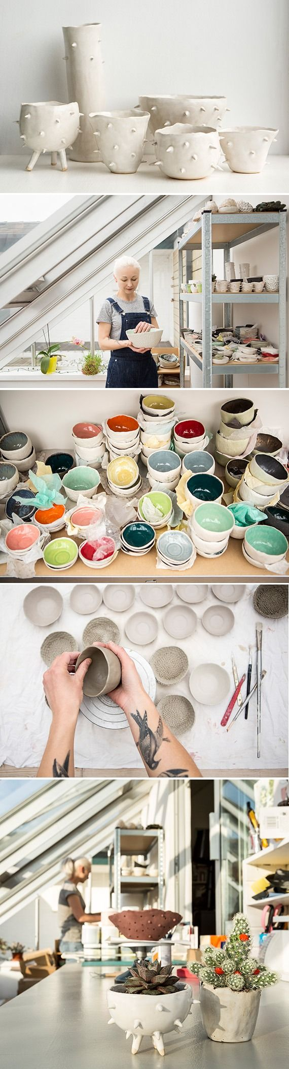 """""""Absolutely go for what you love and believe in. I think if you love what you are doing it's going to show, and people are more likely to be willing to buy it."""" Self-taught ceramicist and jewelry designer Carol Morley found her niche making delightfully irregular treasures by hand in her London live-work flat."""