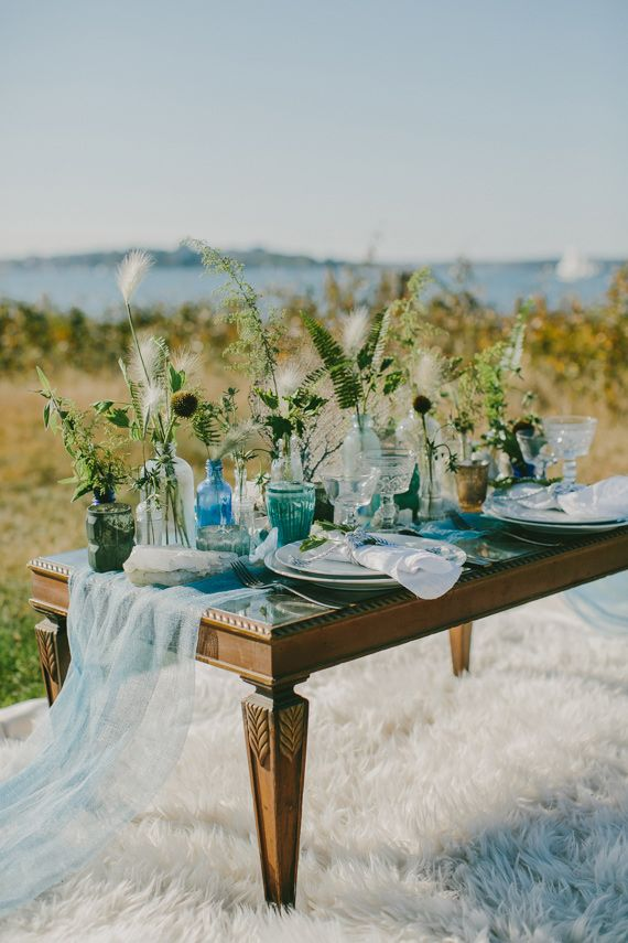 Golden fall coastal wedding inspiration   Photo by Emily Delamater Photography   Read more - http://www.100layercake.com/blog/?p=85735
