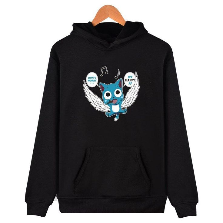 Fairy tail hoodie funny anime cotton pullovers clothing