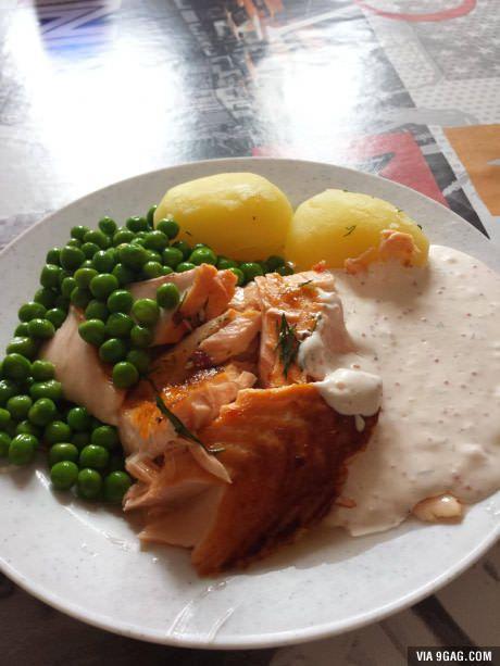 A school lunch in Sweden
