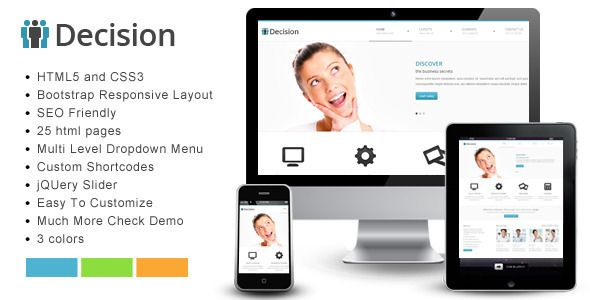 Decision - Bootstrap Responsive Template - ThemeForest Item for Sale