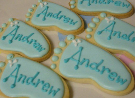 baby feet cookies blue baby feet cookies baby shower cookie favors