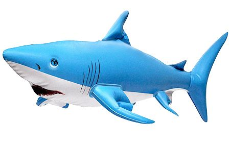 09/11/14: Inflatable Shark 24 inch by Jet Creations - $6.95. Celebrate Shark Week with this 24 inch inflatable shark! Instead of fear and trembling, this shark brings smiling kids from miles around - they don't walk, they run, but this time it's towards the shark. A 24 inch shark is a blow-up playmate you'll be sure to remember!  The Inflatable Shark serves its purpose well for classroom, events, displays, decoration, advertising and marketing, educational purposes and collections.