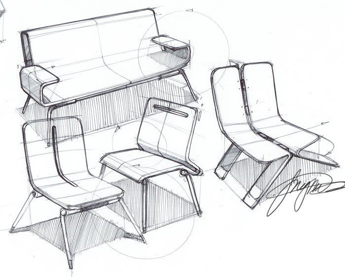 chair sketches. 스케치할때 참고하면 좋을것같다.