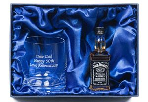 Personalised Crystal Tumbler and Jack Daniels Gift Set from Buyagift