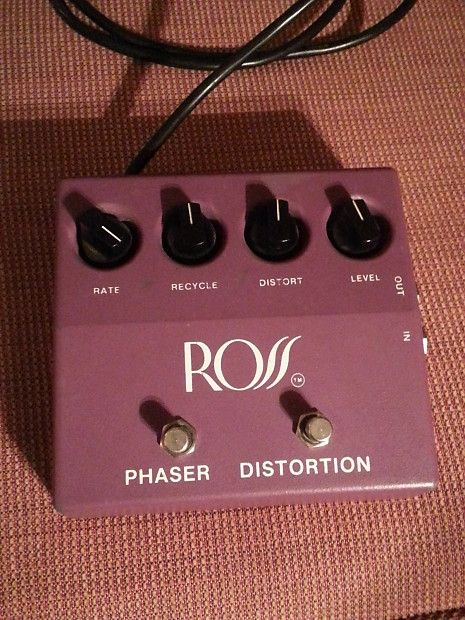 Vintage 1970's Ross Phase Distortion pedal. First run made in Kansas, USA in excellent  condition.  This model is in the extremely rare purple color. I'm of the impression that there were roughly under 500 made before the company moved production to Asia by the 80's. By the eighties same pedal wa...