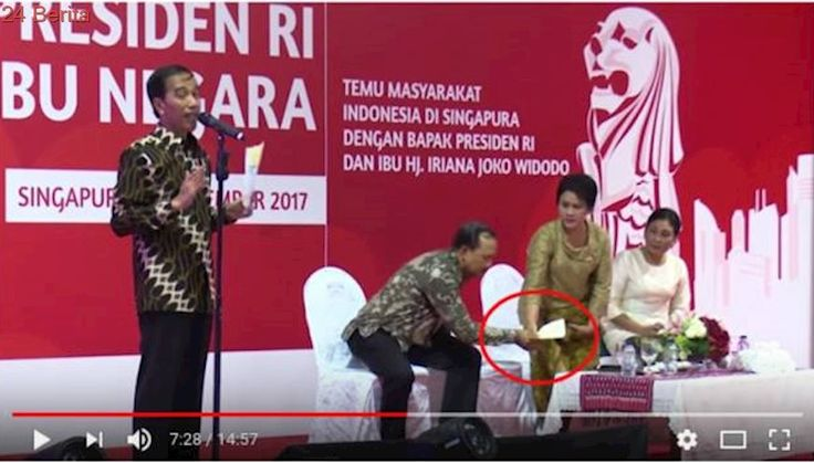 Kocak, Pidato Jokowi Terhenti karena Rambut Kusut