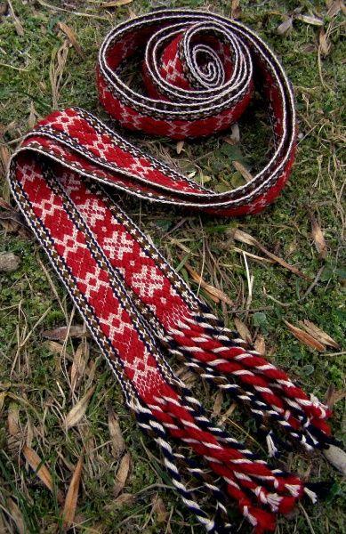 Belt - beautiful collection of Anna Yukush's Slavic weaving.