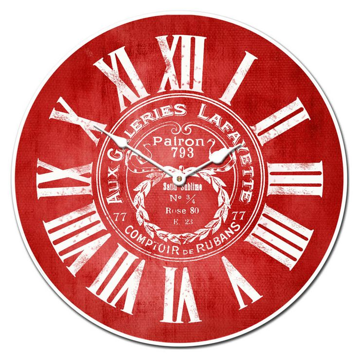 Vintage Or Contemporary, Bright Or Dark, We Have The Red Wall Clock You  Have Been Searching For! Order The Perfect Red Clock At The Big Clock Store.