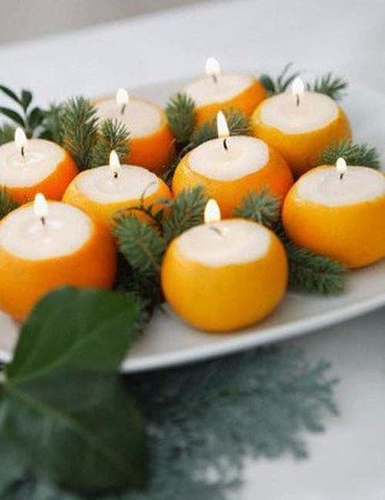 Candle from tangerine. | Ideas for you. Recipes,crafts,decor.