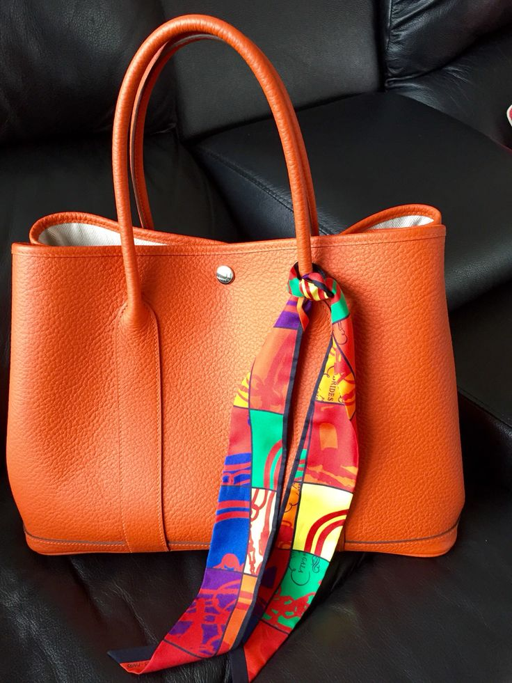Garden Party Hermes bag with mini twilly