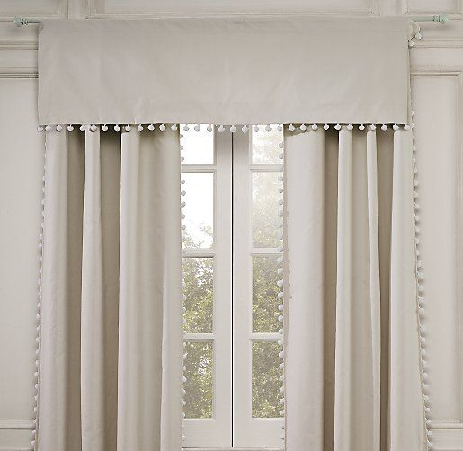 Pom Pom Linen-Cotton Valance | Valances | Restoration Hardware Baby & Child