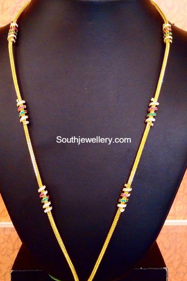 Chain Models For Thaali In 2019 Jewelry Gold Jewellery