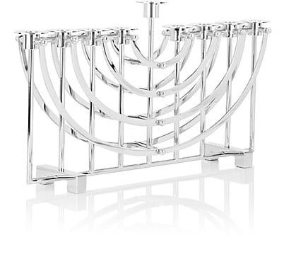 Ricci Argentieri Nickel-Plated Menorah - Candle Holders & Votives - 504811126