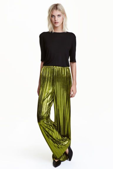 Metallic trousers | H&M