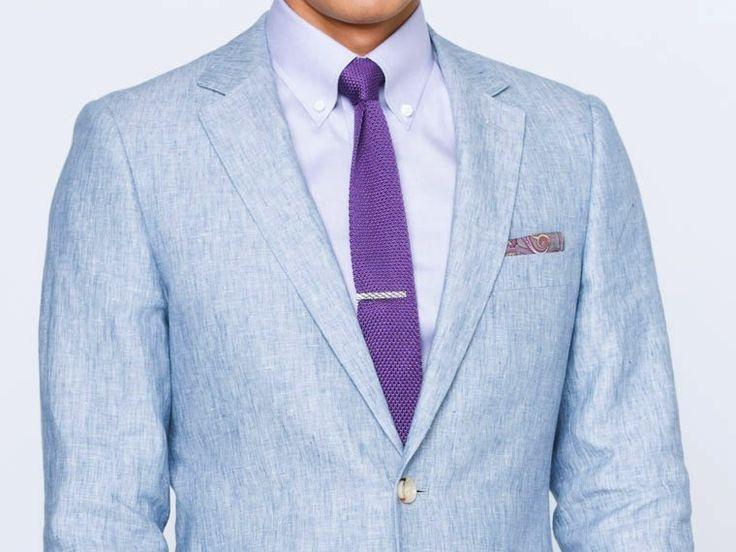 Chambray Blue Linen Suit