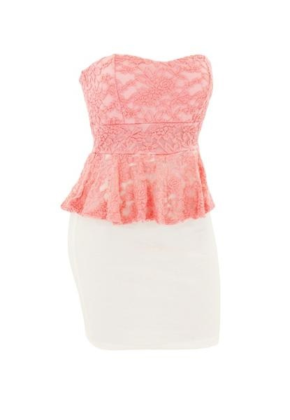 CROCHET TWO TONE PEPLUM DRESS.. Would go beautifully with the jewelry at Body Central.com.. LOVE Body Central's clothing