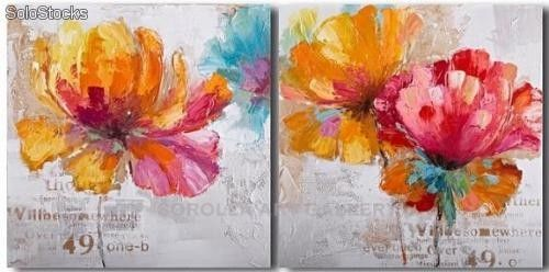 Flores pareja pinturas de arte abstracto y moderno en - Cuadros de parejas ...
