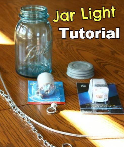 DIY  Mason Jar Pendant Lights Remodelaholic.com #light #mason_jar #tutorial